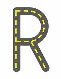 alfabeto maiusculo letra r