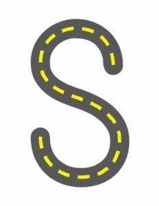 alfabeto maiusculo letra s