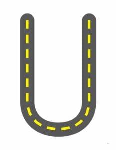 alfabeto maiusculo letra u