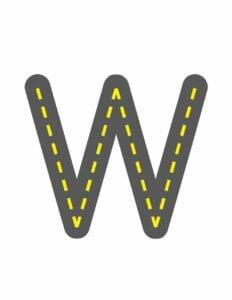 alfabeto maiusculo letra w