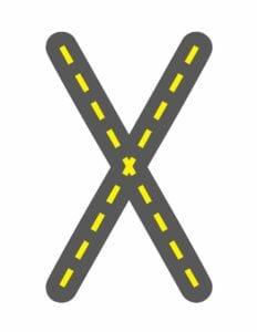 alfabeto maiusculo letra x
