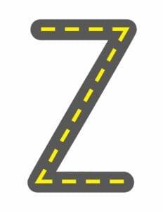 alfabeto maiusculo letra z