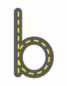 alfabeto minusculo letra b