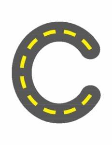 alfabeto minusculo letra c