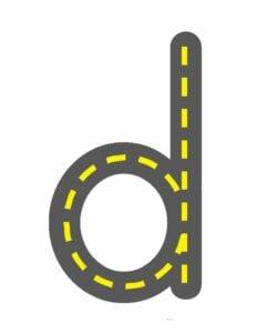 alfabeto minusculo letra d