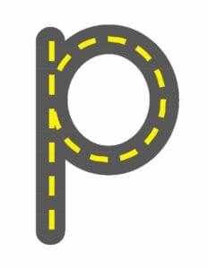alfabeto minusculo letra p