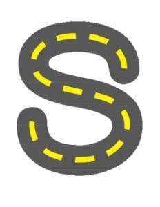 alfabeto minusculo letra s