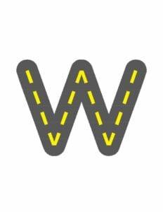 alfabeto minusculo letra w