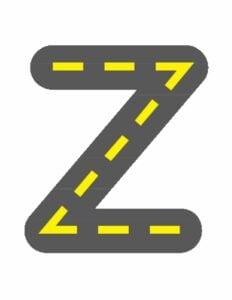 alfabeto minusculo letra z