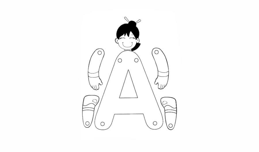 alfabeto para recortar e montar