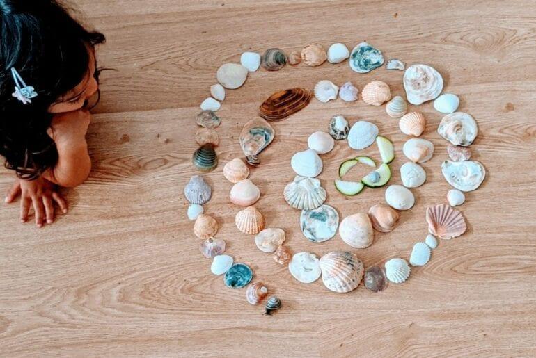 caracol com conchas do mar 02