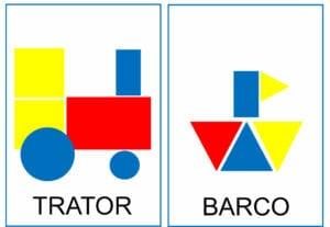 Atividade para criar figuras com blocos lógicos 05