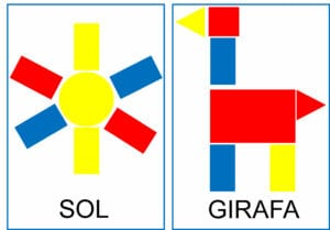 Atividade para criar figuras com blocos lógicos 09