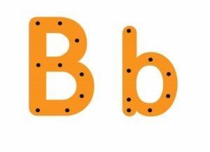 abecedario completo letra b