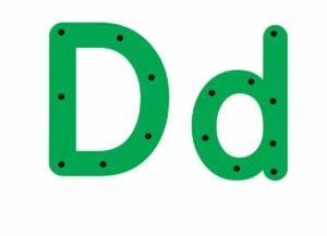 abecedario completo letra d