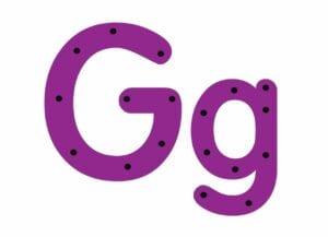 abecedario completo letra g