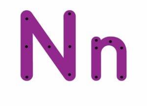 abecedario completo letra n