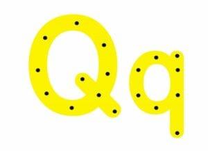 abecedario completo letra q