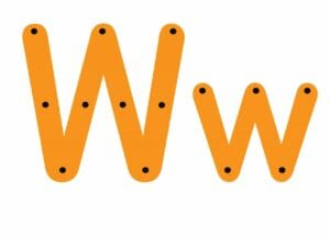abecedario completo letra w