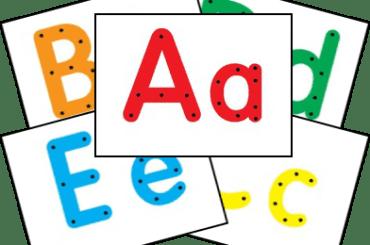 abecedario completo para atividade de alinhavo