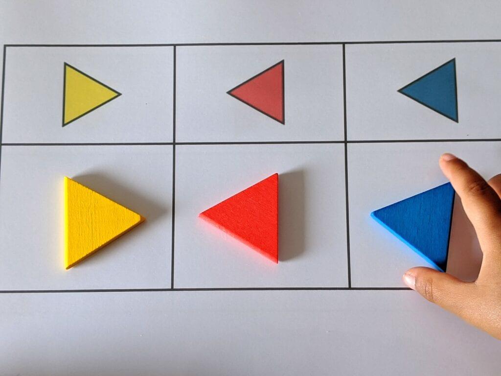 atividade de orientacao e sentido com blocos logicos