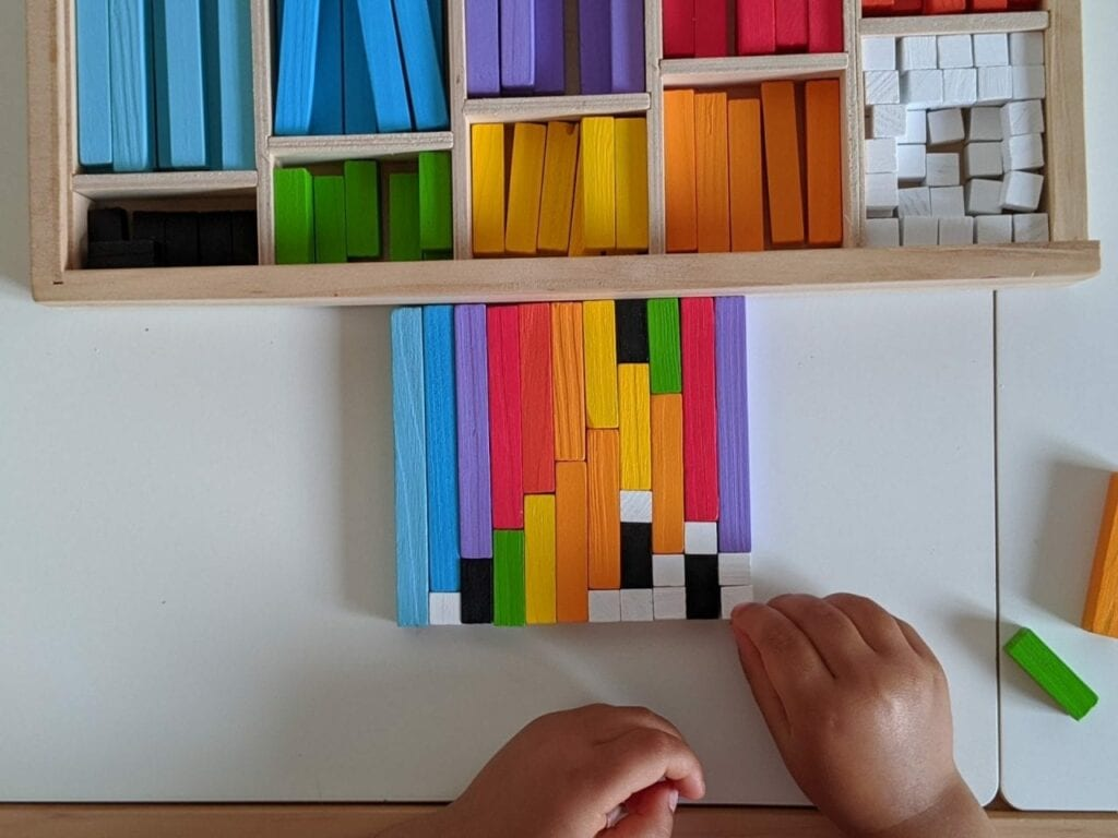 escala cuisenaire decomposicao de numeros