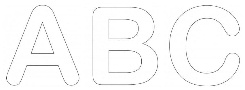 Letras grandes para imprimir. Selecione moldes de letras grandes maiúsculas, minúsculas e cursiva. Ideias de atividades para reconhecer o alfabeto completo.