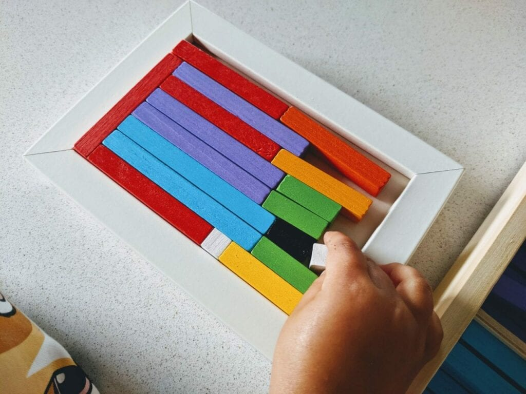 quadro decomposicao numeros escala cuisenaire