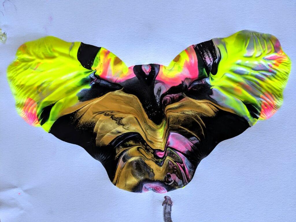 Atividade de artes sobre borboleta