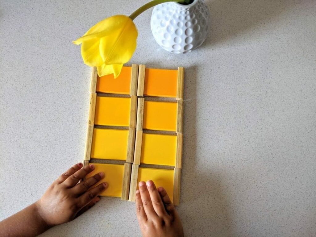atividade com tulipa para educacao infantil