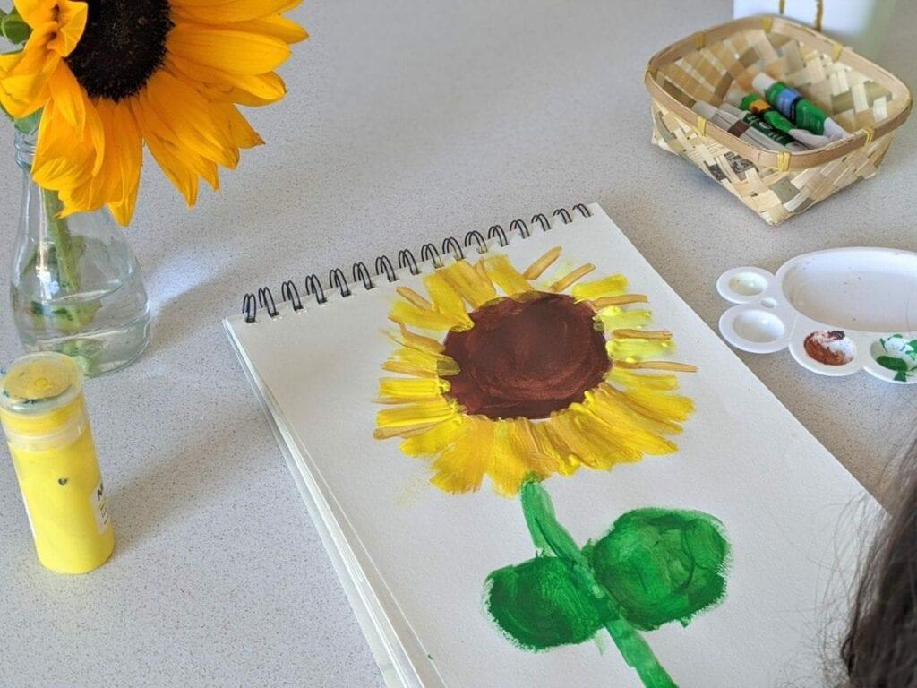 atividade de artes com girassol para educacao infantil 03
