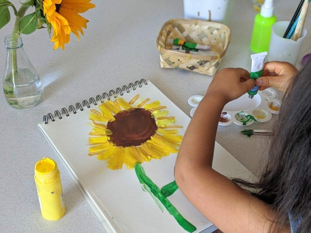 atividade de artes com girassol para educacao infantil 04