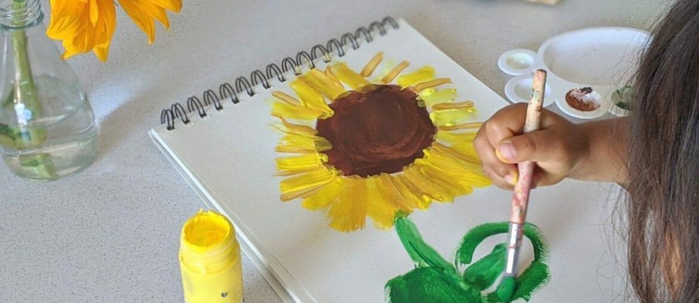 atividade de artes com girassol para educacao infantil 05