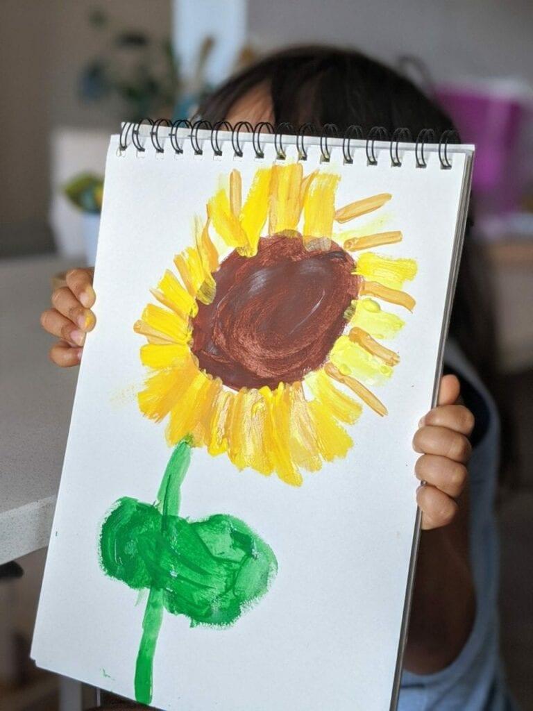 atividade de artes com girassol para educacao infantil 07