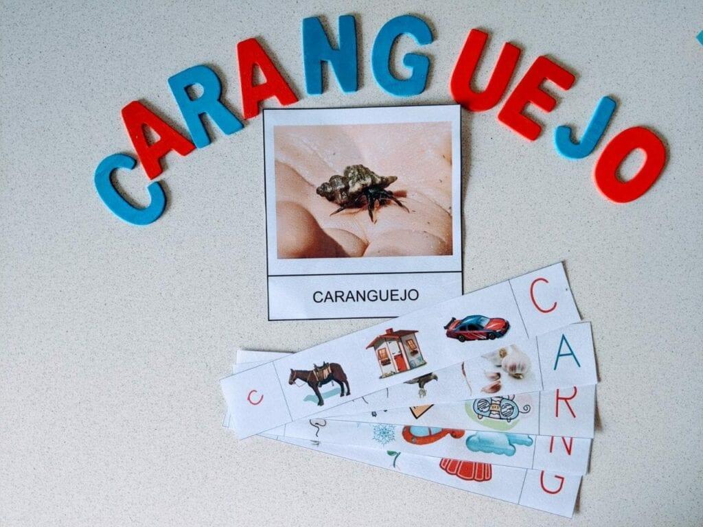 atividade de linguagem caranguejo consciencia fonologica