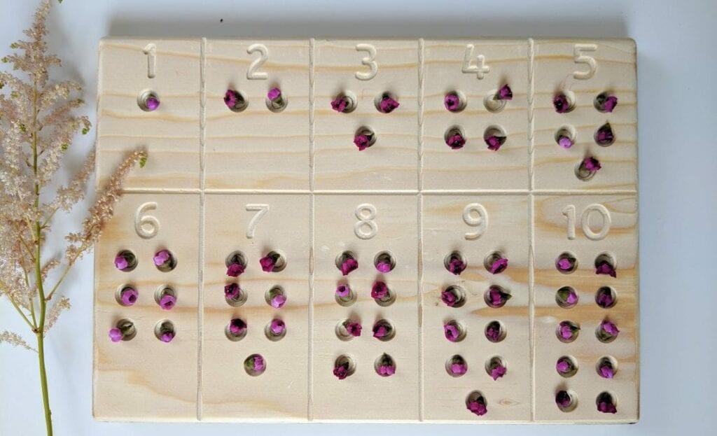 atividade de matematica com flores