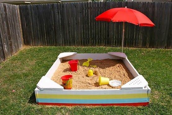 caixa de areia para criancas