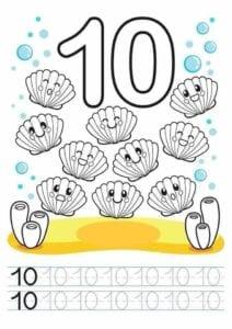 desenhos com numeros para imprimir 10