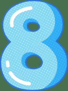 moldes de numeros para imprimir 8