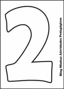 moldes de numeros vazados para imprimir 2