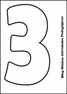 moldes de numeros vazados para imprimir 3