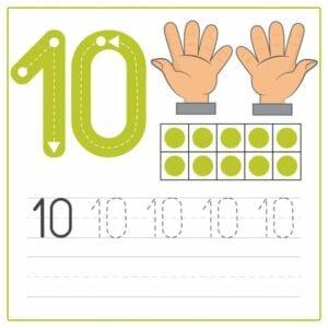 numerais para imprimir 10