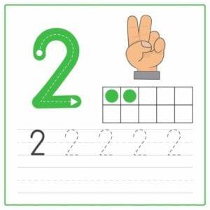numerais para imprimir 2