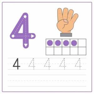 numerais para imprimir 4