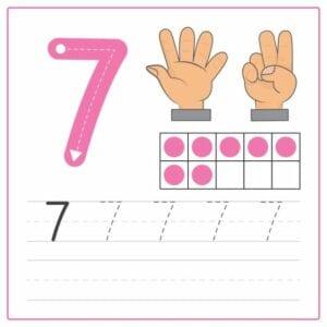 numerais para imprimir 7
