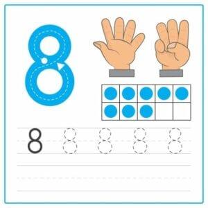 numerais para imprimir 8
