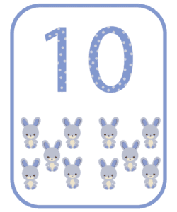 numeros e suas quantidades para imprimir 10