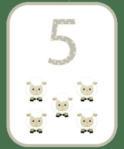 numeros e suas quantidades para imprimir 5