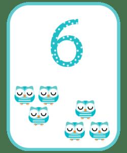 numeros e suas quantidades para imprimir 6