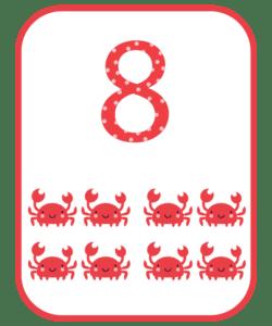 numeros e suas quantidades para imprimir 8